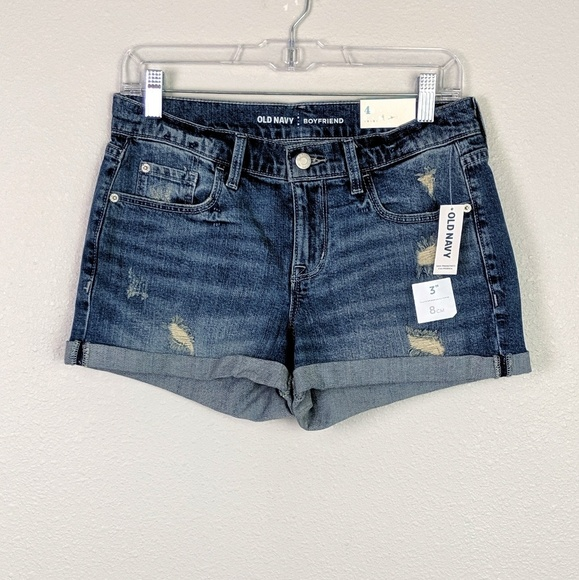 Old Navy Pants - Old Navy Distressed Boyfriend Jeans Shorts Size 4